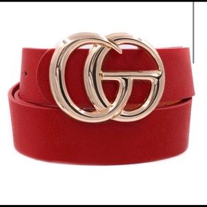 Red Trendy GG Belt